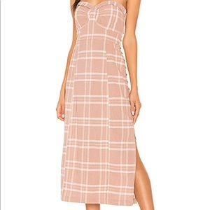 Free People Strapless Mid Length Dress